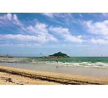 Windsurfing Around St Michael's Mount Photographic Print