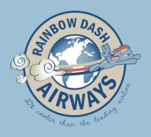 Rainbow Dash Airways Baby Tee