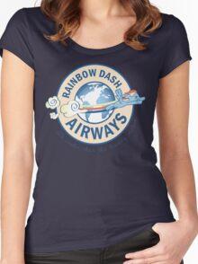 Rainbow Dash Airways Women's Fitted Scoop T-Shirt