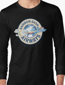 Rainbow Dash Airways Long Sleeve T-Shirt