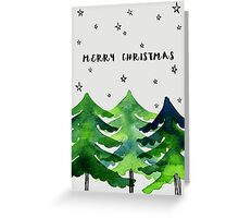 Merry Christmas - trees Greeting Card