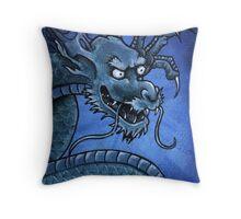 Green Oriental Dragon Throw Pillow