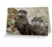 Charming couple Greeting Card