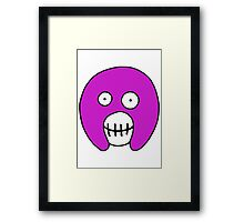 The Mighty Boosh – Purple Mask Framed Print