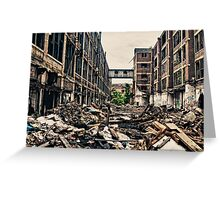 knee deep in the rubble Greeting Card