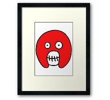 The Mighty Boosh – Red Mask Framed Print