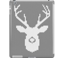 Deer Silhouette in Christmas Ugly Sweater Knitting iPad Case/Skin