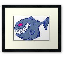 7 colors vector Piranha Framed Print
