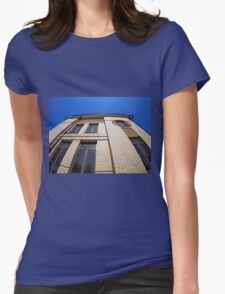 New office building, view from below Womens Fitted T-Shirt