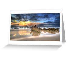 Sunrise Shipwreck Greeting Card