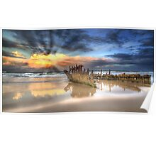 Sunrise Shipwreck Poster