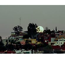 Moon over San Miguel Photographic Print