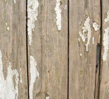 Old wooden fence with exfoliated paint Sticker