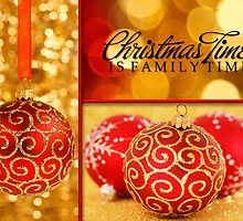 Red and Gold Christmas Ornaments by Doreen Erhardt
