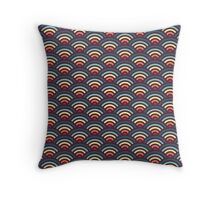 rainbowaves (dark) - pattern Throw Pillow