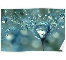 Blue Sparkles Poster