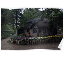 Summer house garden Poster