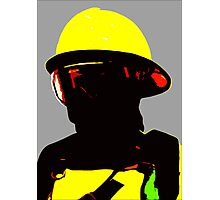 """""""Fireman"""" - Work in which describe image of forest fireman Photographic Print"""