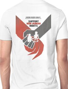 """DISTRICT 9 """"Support Non-human rights"""" Unisex T-Shirt"""