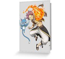 Natsu & Happy Greeting Card