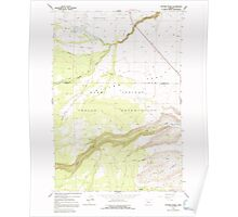 USGS Topo Map Oregon Potters Ponds 281152 1963 24000 Poster
