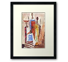 The Indaba - Ethnic series Framed Print