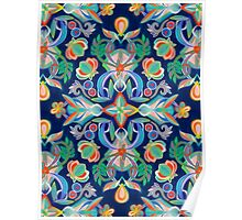 Boho Navy and Brights Poster