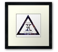 X-Files Revival: Are We Alone? Framed Print