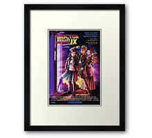 Doctor Who Back to the Future Framed Print