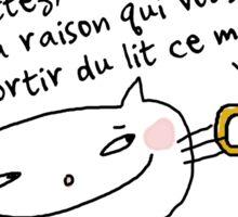Le café... admettez / Ooh la la ! (French doodles) Sticker
