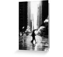 Rainy Stroll Greeting Card