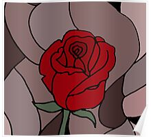 Awesome Artistic Red Rose Abstract Art Original Poster