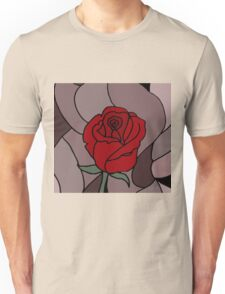 Awesome Artistic Red Rose Abstract Art Original Unisex T-Shirt