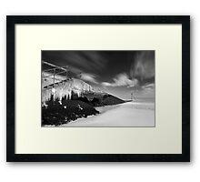 Slippery Slope BW Framed Print