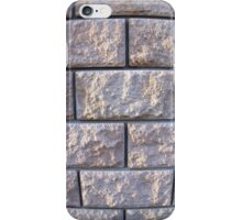 Fragment of the wall of the large gray concrete blocks iPhone Case/Skin