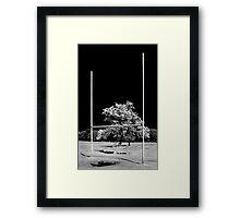 GAA Goalposts in the Phoenix Park, Dublin Framed Print