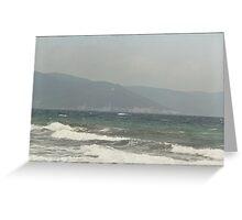 IL MARE .... PIZZOMUNNO -..ITALIA- EUROPA- 1500 VISUALIZZ.2013 ..... Greeting Card
