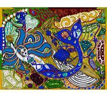 'Secret Treasures of the Fateful Mermaid ~ Sea Earth' Pieces Art™ Photographic Print
