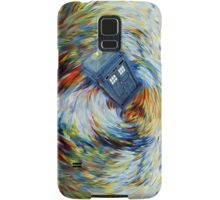 Blue Phone Booth jump into time Vortex art painting Samsung Galaxy Case/Skin