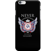 Never Underestimate The Power Of Gulasky - Tshirts & Accessories iPhone Case/Skin