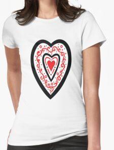 Ben's Heart Womens Fitted T-Shirt