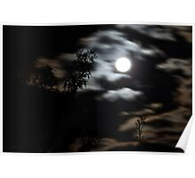 Eerie Orange skies and moon over Geelong (14/09/11) Poster