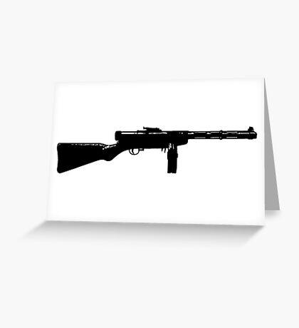 Tommy Gun Greeting Card