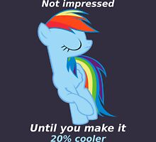 Rainbow Dash is not impressed Unisex T-Shirt