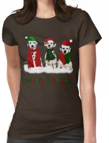 Holiday Snow Dogs!  Womens Fitted T-Shirt