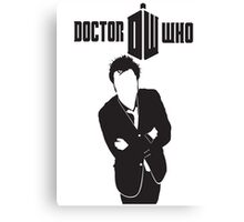 TOP SELLING DOCTOR WHO BLACK Canvas Print