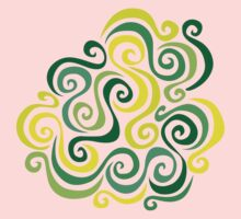 Swirly Emblem Kids Tee