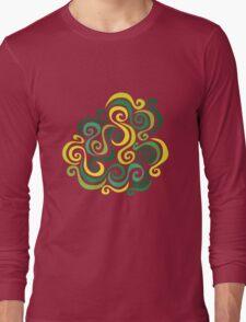 Swirly Emblem Long Sleeve T-Shirt
