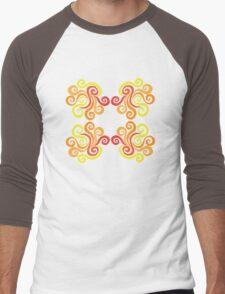 Swirly Fire Men's Baseball ¾ T-Shirt