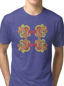 Swirly Fire Tri-blend T-Shirt